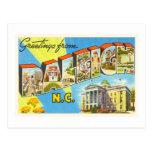 Raleigh North Carolina NC Vintage Travel Postcard- Postcard