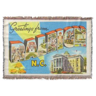 Raleigh North Carolina NC Vintage Travel Postcard- Throw