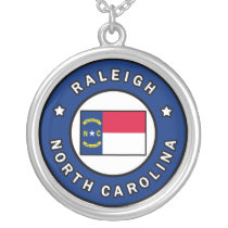 Raleigh North Carolina Silver Plated Necklace