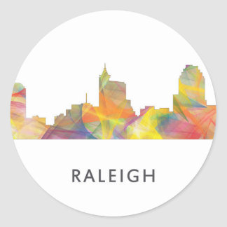 RALEIGH, NORTH CAROLINA WB1 - CLASSIC ROUND STICKER