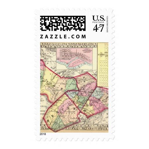 Raleigh, sedero, veranos, condados de Monroe Timbre Postal
