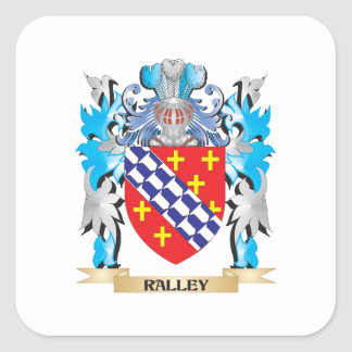 Ralley Coat of Arms - Family Crest Square Sticker
