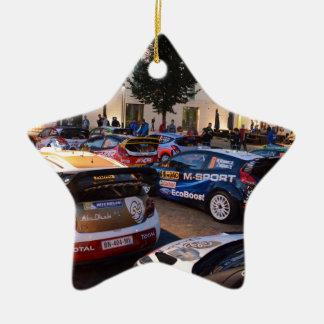 Rally Cars Ceramic Ornament