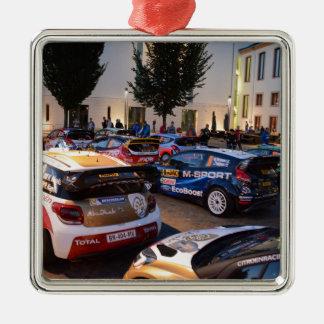 Rally Cars Metal Ornament