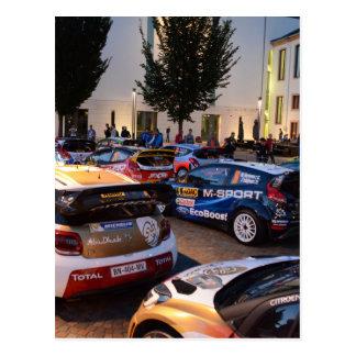 Rally Cars Postcard