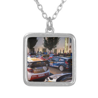 Rally Cars Silver Plated Necklace