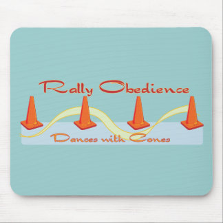 Rally Obedience, Dances with Cones Mouse Pad