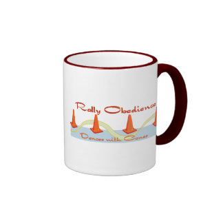Rally Obedience, Dances with Cones Ringer Coffee Mug