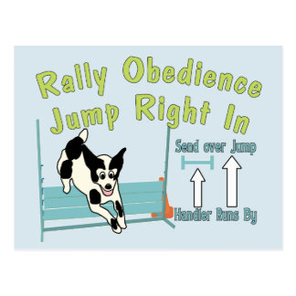 Rally Obedience Jump In Postcard