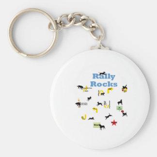 Rally Rocks Keychain