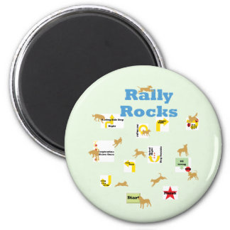 Rally Rocks Magnet