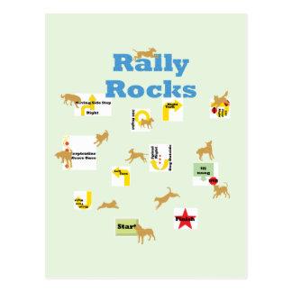 Rally Rocks Postcard