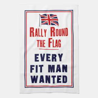 Rally Round The Flag ~ Every Fit Man Wanted Hand Towel