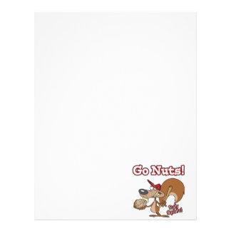 rally squirrel go nuts baseball cartoon letterhead