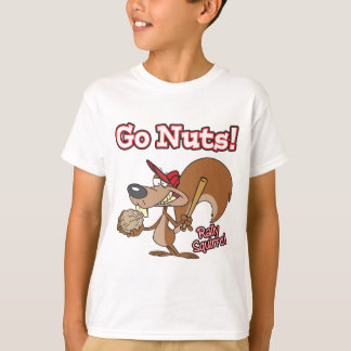 rally squirrel go nuts baseball cartoon T-Shirt