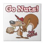 rally squirrel go nuts cartoon ceramic tile