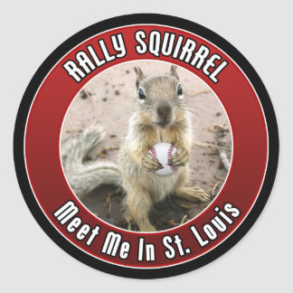 Rally Squirrel - Louis, Missouri Classic Round Sticker