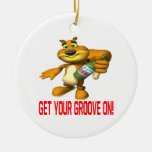 Rally Squirrel Ornaments