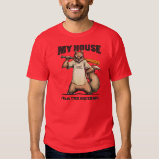 Rally Squirrel Red T-shirt  Fear The Squirrel