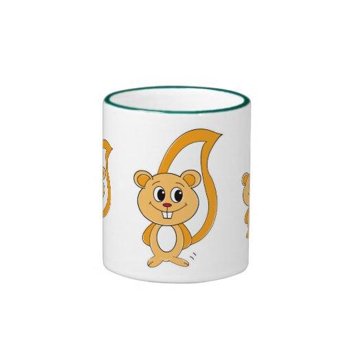 Rally Squirrel Ringer Coffee Mug