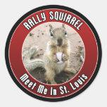 Rally Squirrel - St Louis, Missouri Stickers
