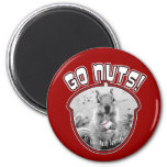 Rally Squirrel - St Louis unofficial mascot 2 Inch Round Magnet