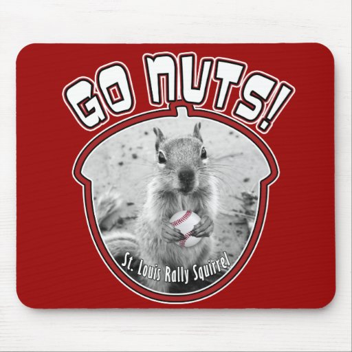 Rally Squirrel - St Louis unofficial mascot Mouse Pad