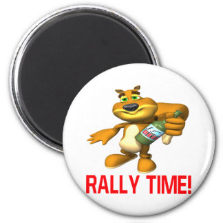 Rally Time 2 Inch Round Magnet