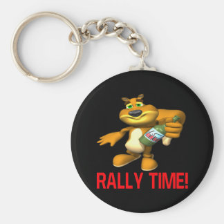 Rally Time Keychain