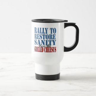 Rally To Restore Sanity Grilled Cheesus Travel Mug