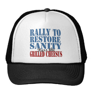 Rally To Restore Sanity Grilled Cheesus Trucker Hat