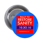 RALLY TO RESTORE SANITY PINBACK BUTTON