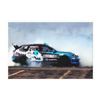 Rally USA Subaru STi Drifting Canvas Print