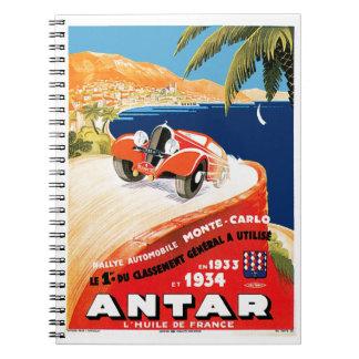 Rallye Automobile Monte Carlo Notebook