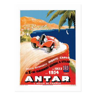 Rallye Automobile Monte Carlo Postcard