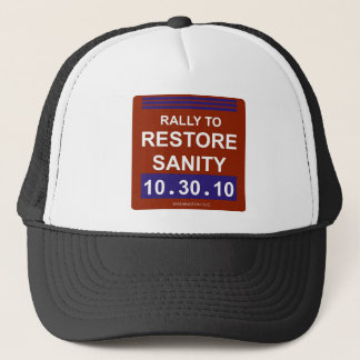 rallytorestoresanity2white trucker hat
