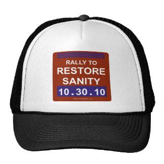 rallytorestoresanity2white trucker hat