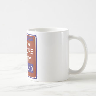 rallytorestoresanitywhite coffee mug