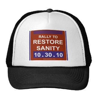 rallytorestoresanitywhite trucker hat