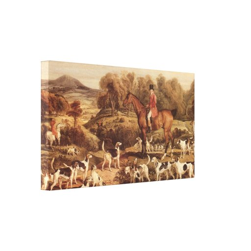 Ralph Lambton and his Hounds by James Ward Gallery Wrap Canvas