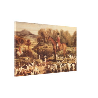 Ralph Lambton and his Hounds by James Ward Canvas Print