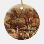 Ralph Lambton and his Hounds by James Ward Ceramic Ornament