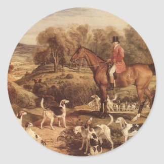 Ralph Lambton and his Hounds by James Ward Classic Round Sticker