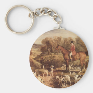 Ralph Lambton and his Hounds by James Ward Keychain
