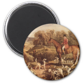 Ralph Lambton and his Hounds by James Ward 2 Inch Round Magnet