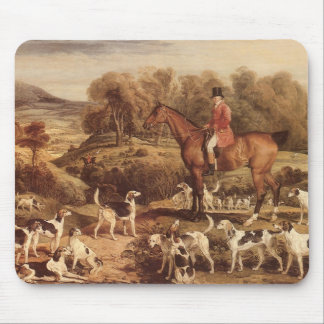 Ralph Lambton and his Hounds by James Ward Mouse Pad