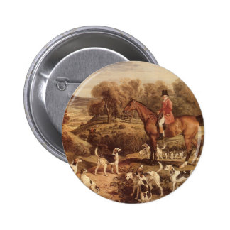 Ralph Lambton and his Hounds by James Ward Pinback Button