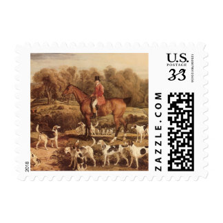 Ralph Lambton and his Hounds by James Ward Postage Stamp