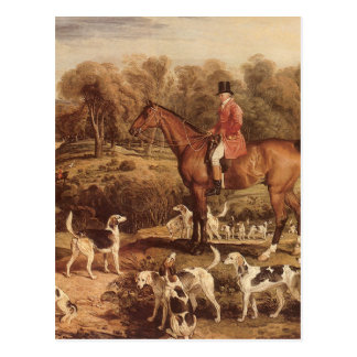 Ralph Lambton and his Hounds by James Ward Postcard