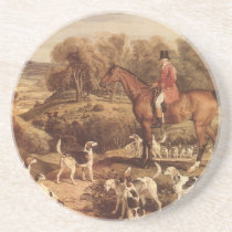Ralph Lambton and his Hounds by James Ward Sandstone Coaster